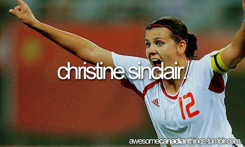 Christine Sinclair is a Canadian soccer player and captain of the Canadian national team. She plays professionally for the Portland Thorns FC in the National Women's Soccer League.