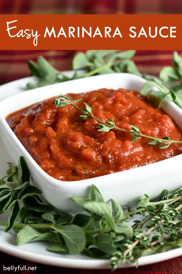 Homemade marinara sauce, Marinara sauce and Super simple on Pinterest