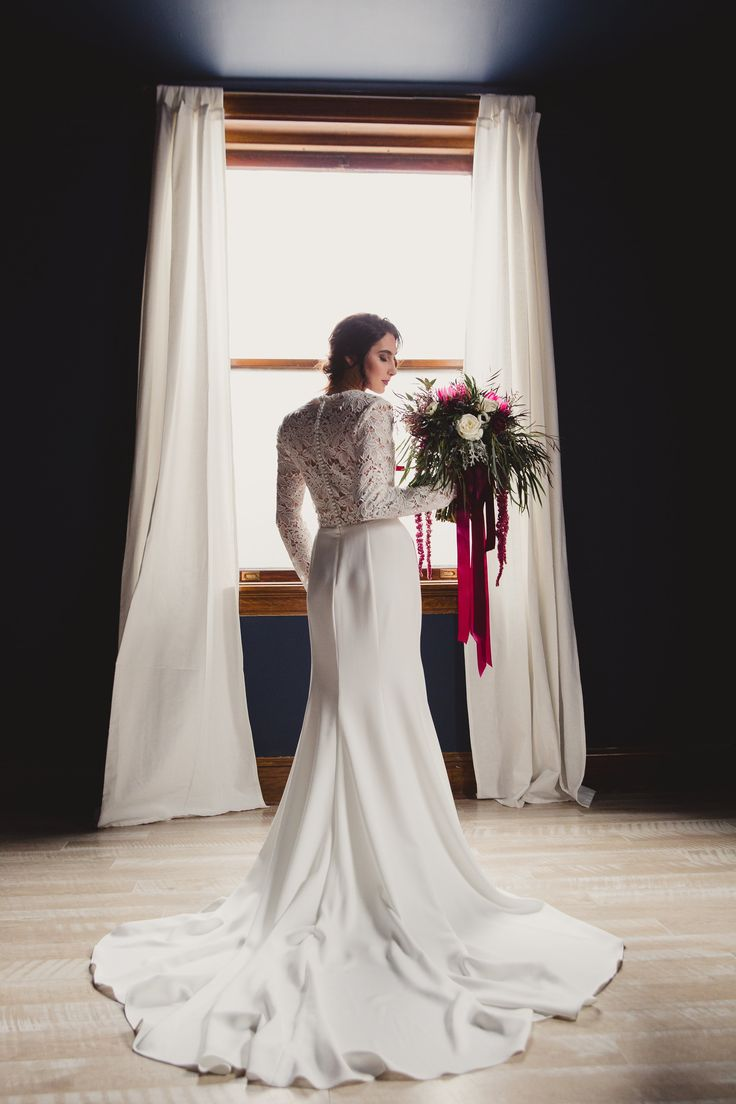 Lovely gown from Tara Keely collection at Ogden Click with Sage and Thistle Event + Krystal and Co. Photo