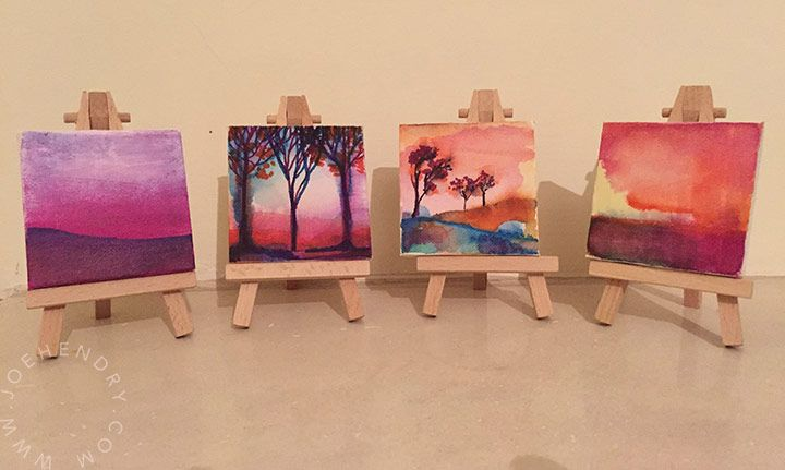 miniature landscape paintings