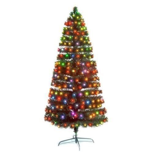 Holiday Artificial Christmas Tree Coloured 7 FT 210 cm LED Winter Xmass Décor #HolidayArtificialChristmasTree