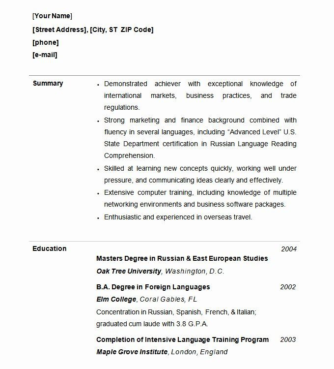 Free Functional Resume Template Lovely Functional Resume Template