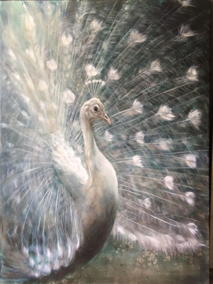 Peacock painting pauwenschilderij by Nanouk Weijnen