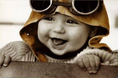 baby pilotBaby Pilots, Posters Prints, Aviator, Baby Boys, Children, Kim Anderson, Kimanderson, Kids, Little Boys