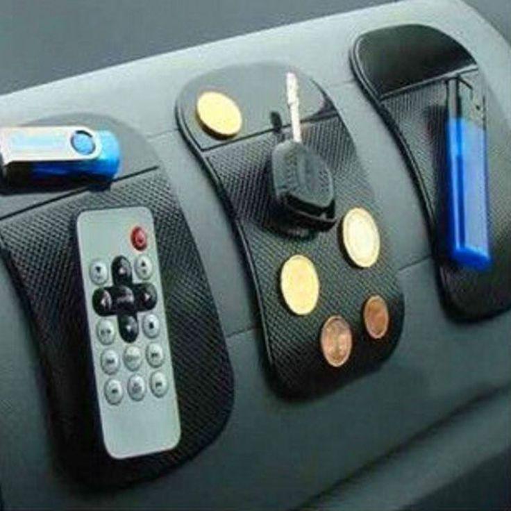 3 יח'\חבילה עוצמה סיליקון קסם ללא להחליק מחצלת להחליק אנטי מכונית כרית מדבקה לרכב דאש Mat לוח המחוונים Sticky Pad טלפון GPS מחשב כף יד