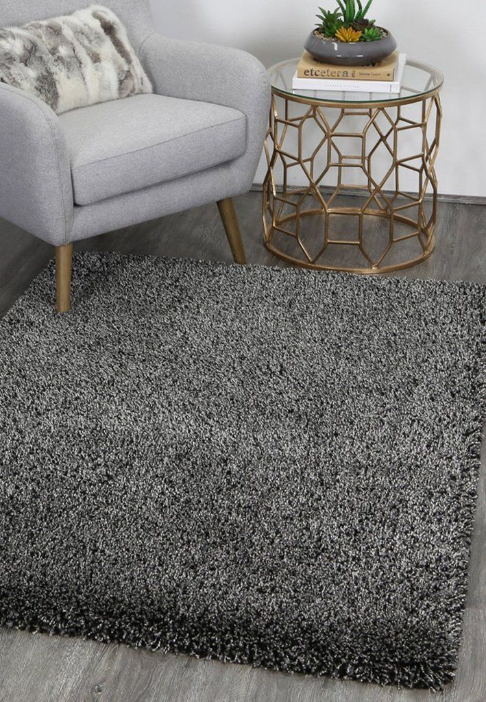 Plush Charcoal Anthracite Shaggy Rug