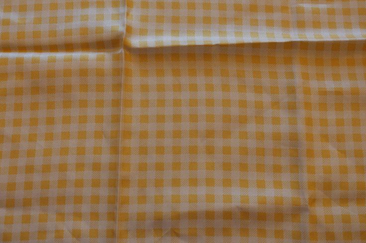 vintage pocket square checkered yellow white hand rolled hankie dandy 70 s new