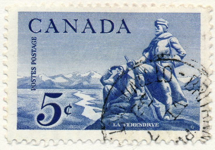 Sieur de la Vérendrye (Pierre Gaultier de Varenne), French explorer who discovered the Canadian West in the 18th century. (issued 1958)