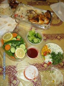 Menu makan siang di foodcourt Zam Zam Tower (lunch at Zam Zam Tower, Mekkah)