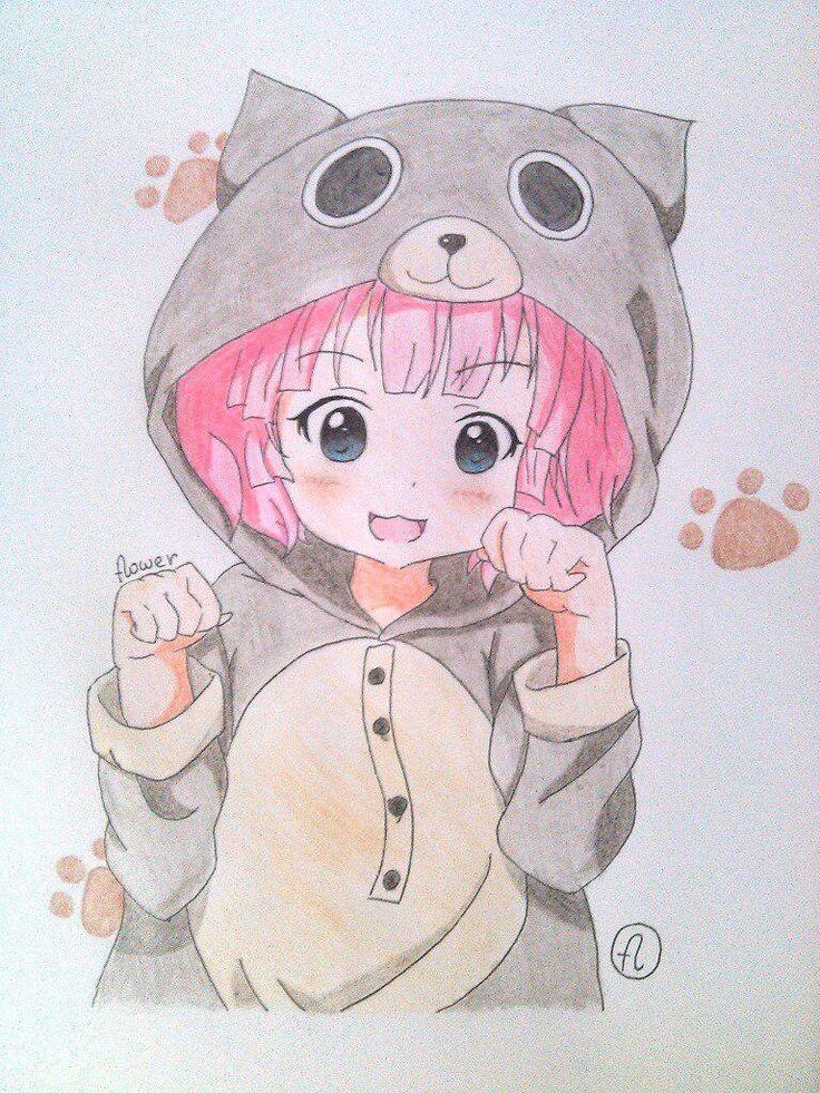 Картинки аниме милых девочек легкие для срисовки
