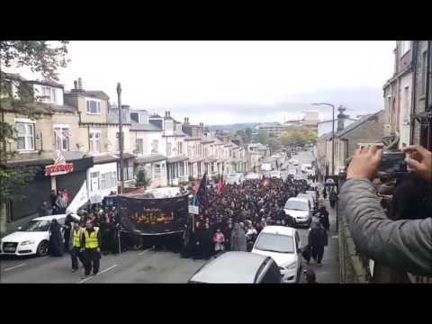 MUSLIM BURKA WOMEN MARCH IN BRADFORD ENGLAND UK