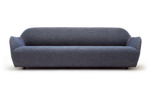 hülsta Sofa hs. 480 mit schlichtem eleganten Bezug in blaugrau