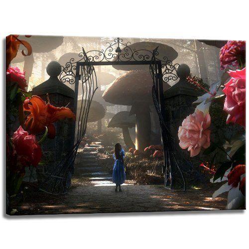 Alice im Wunderland Motiv auf Leinwand im Format: 80x60 cm. Hochwertiger Kunstdruck als Wandbild. Billiger als ein Ölbild! ACHTUNG KEIN Poster oder Plakat! Dream-Arts http://www.amazon.de/dp/B00H8VX6IW/ref=cm_sw_r_pi_dp_HFQwub1HFW2D3