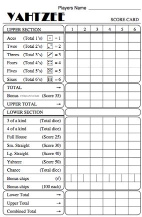 Best 25+ Math games with dice ideas on Pinterest Multiplication - sample yahtzee score sheet