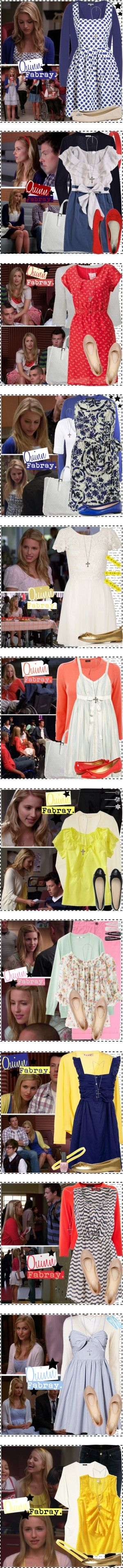 """Quinn Fabray [Glee]."" by silver-screen-style ❤ liked on Polyvore  <3 everything minus the crosses"