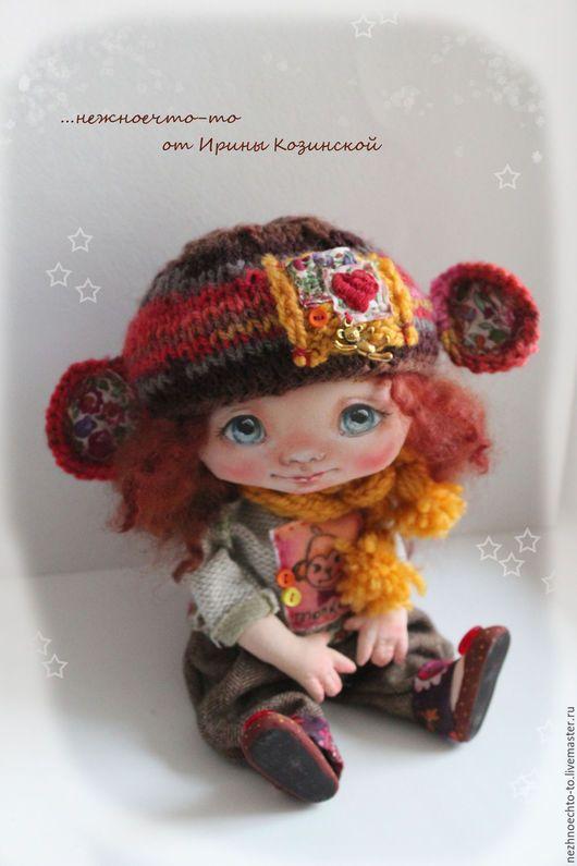 Коллекционные куклы ручной работы. Ярмарка Мастеров - ручная работа. Купить Яночка.. Handmade. Ярко-красный, кукла обезьяна, венслидейл