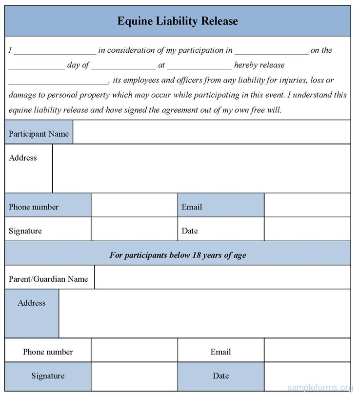 Equine Release Form Equine Release Forms 51 Sample Release Forms - general liability release form template