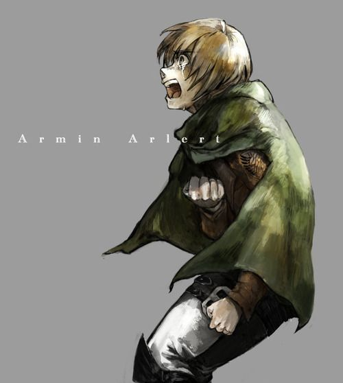 At first, I didn't really like Armin. But I gradually started liking him while watching more. Now he's my favourite out of the main 3