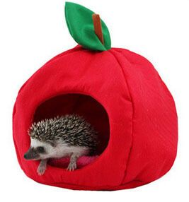 Strawberry Warm Nest Mini Pet Hamster Cotton House African Hedgehog House Kennel Small Animal Hamster Pet Kennel Lucky Bag M68