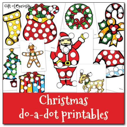 Free Christmas Do A Dot Printables by Katie from Gift of Curiosity at Crystal and Co.