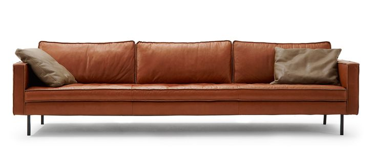 Modell Buster in Leder Sauvage tobacco 4,5-Sitz Sofa