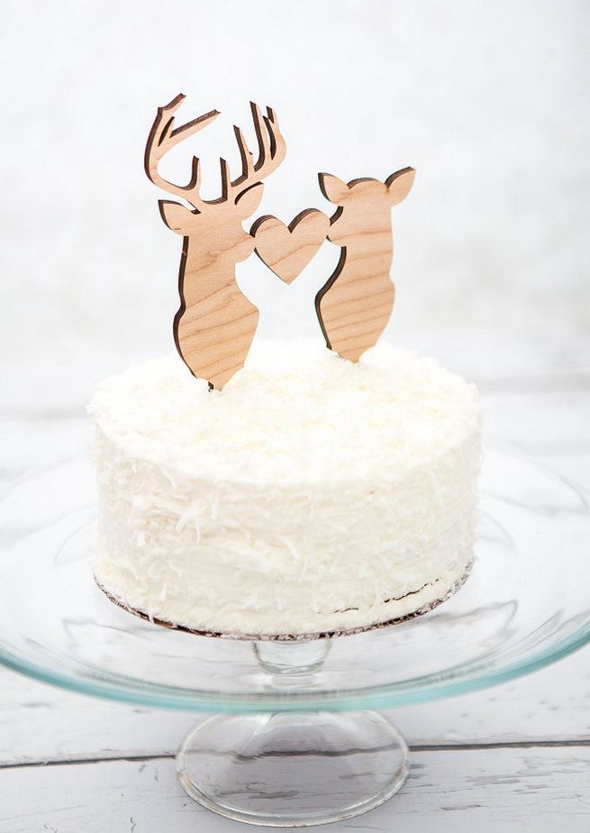 Fun Wedding Cake Toppers: Deer toppers
