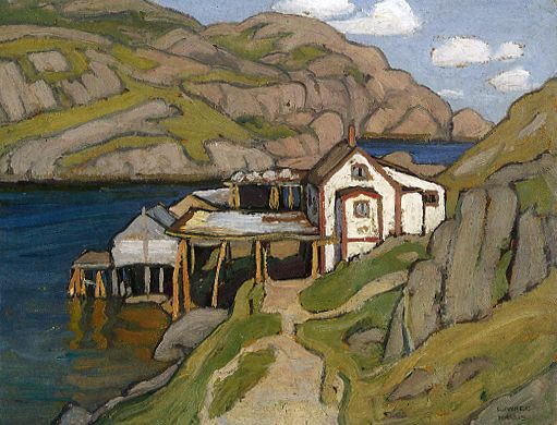 Fish Stage, Quidi Vidi, New Foundland c.1921 Lawren Harris