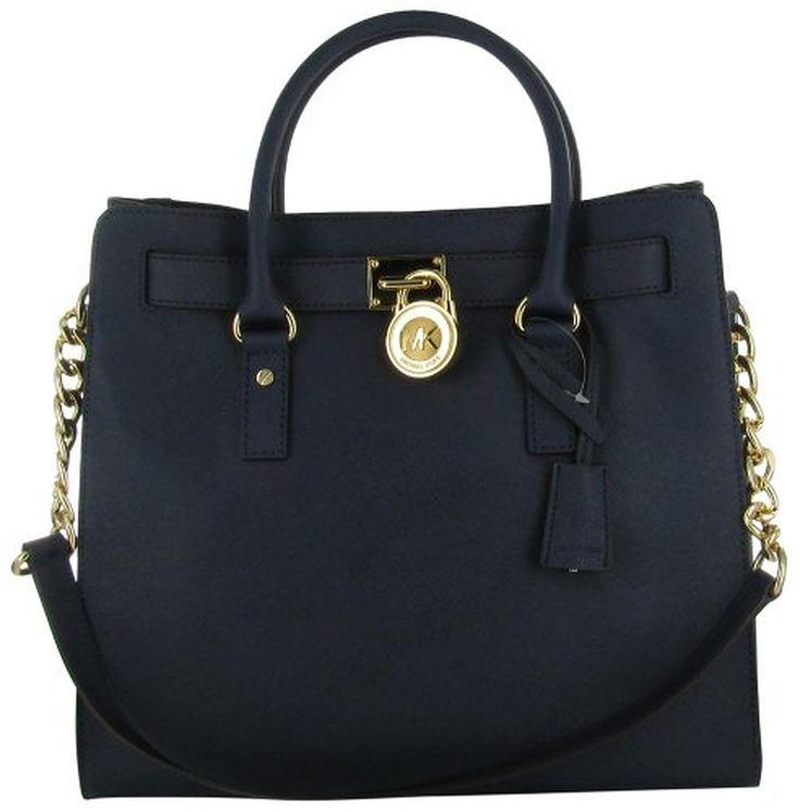 Michael Kors Hamilton Women's Large Leather Satchel Handbag Purse
