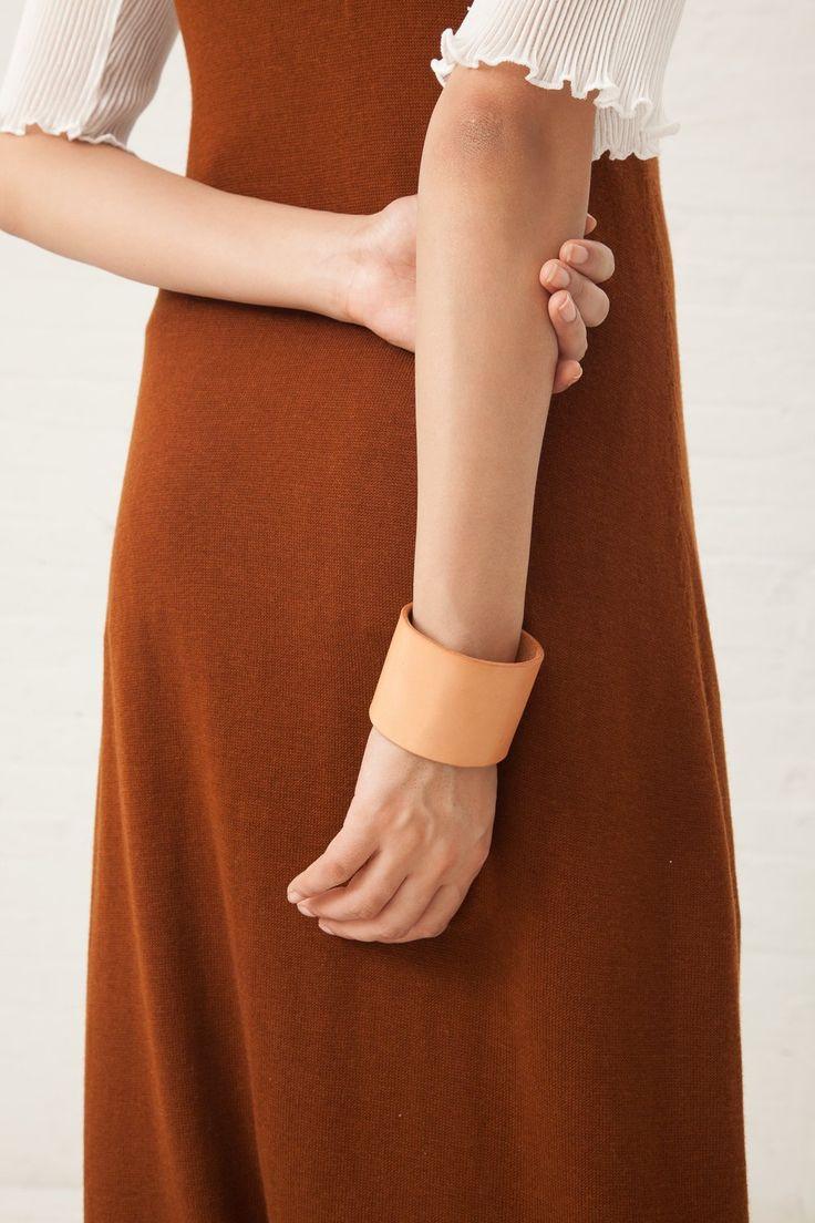 Lauren Manoogian Mono Cuff in Leather Veg Tan