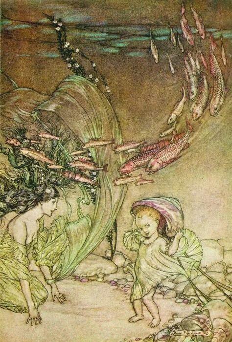 Фридрих де ла Мотт Фуке «УНДИНА» (Художник Артур Рэкхем ))