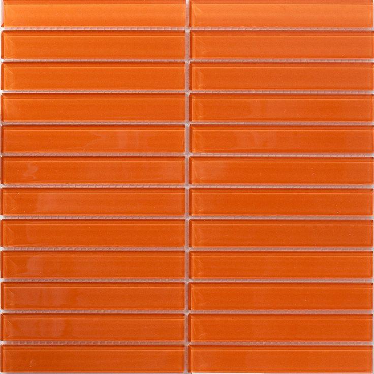 Retro Orange Subway Tile Colors In 2019 Glass Subway