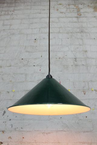 D.Cone Lights. Classic warehouse style. Enamel shades in black or green - Fat Shack Vintage - Fat Shack Vintage