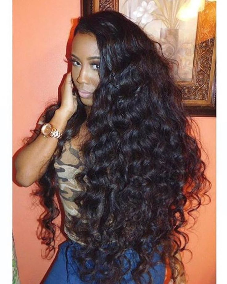 When you've set hair goals so high, it'll take a miracle for others to come close! Our mouths are drooling at our Brazilian wavy and lace closure in its natural state--without curling, wanding, or styling.