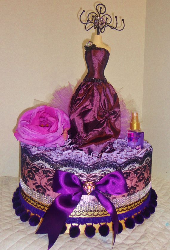 Mysterious purple  Towel Cake by GABYOLYSCREATIONS on Etsy, $68.00