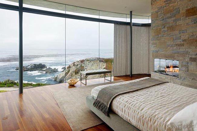 beach house bedroom in California