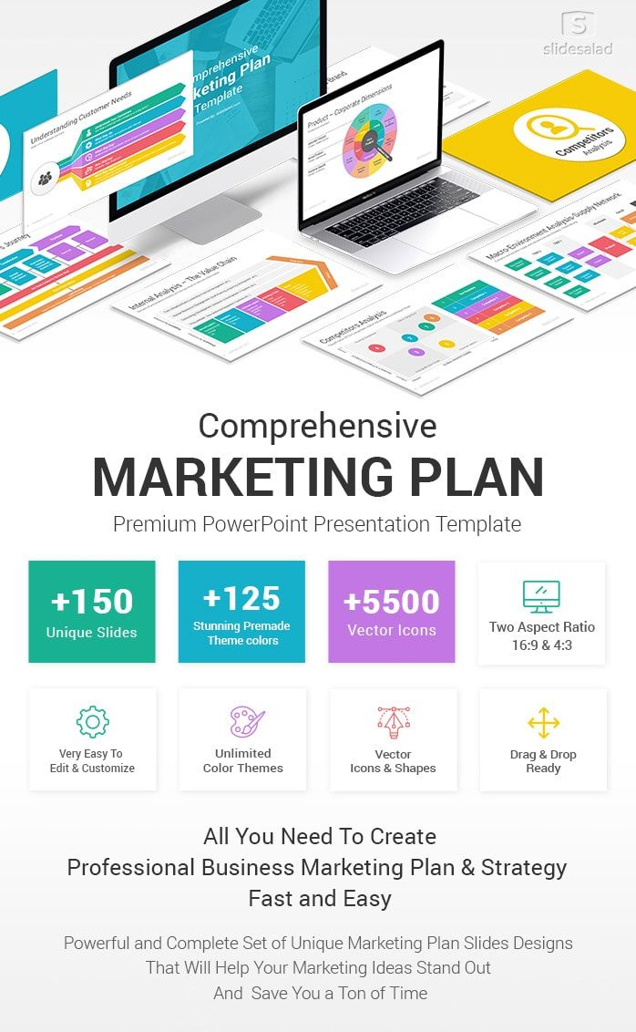 Best Marketing Plan Powerpoint Ppt Template Slidesalad Marketing Plan Template Powerpoint Presentation Templates Powerpoint Template Free