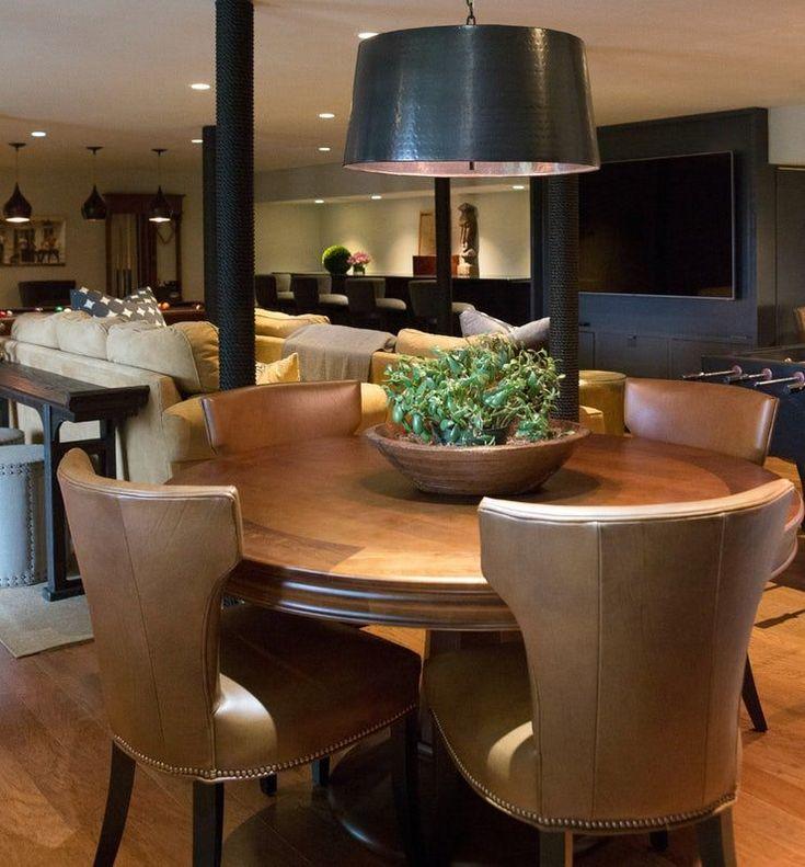 Luxury Basement Designs: Livable Luxury Family Room Basement Bar Media Contemporary