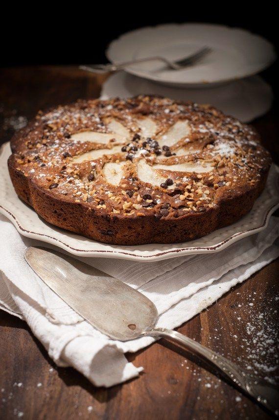 torta integrale pere nocciole senza burro
