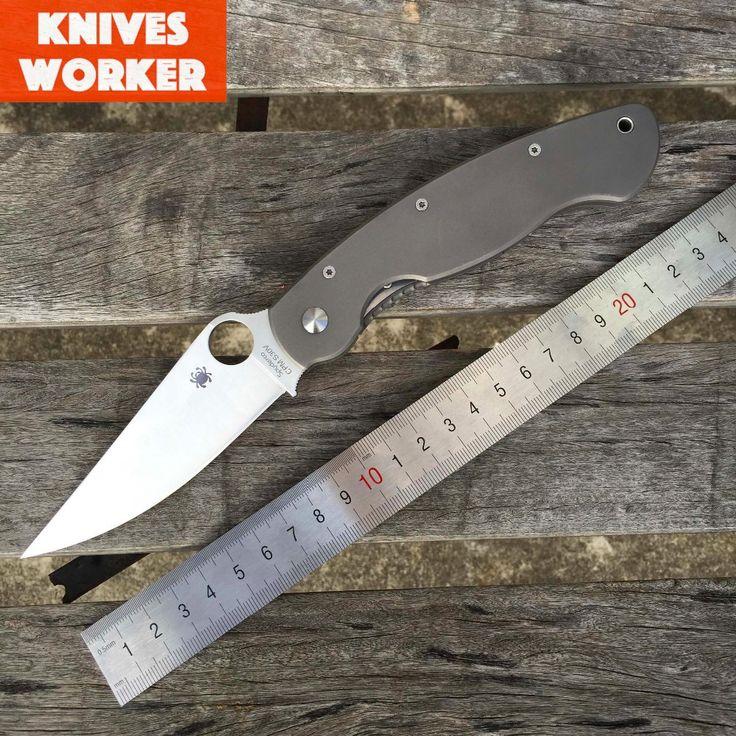 Spyderco C36 WIG zavírací nůž Titanium zacházejte CPM S30V čepel Vojenské Survival nože Camping Lovecké Utility Outdoor Tools (Čína (pevninská část))