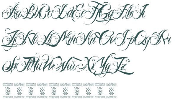 8 Gangster Cursive Fonts Images Tattoo | Cursive | Cursive tattoos