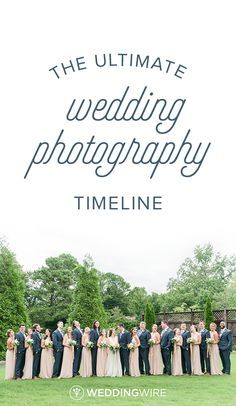 The Ultimate Wedding Photography Timeline - Creating a wedding photography timeline so you have plenty of time to capture all your wedding photos is essential. Check out what tips photographers had for creating your wedding photography timeline on @weddingwire!  {Eric & Jamie Photography}