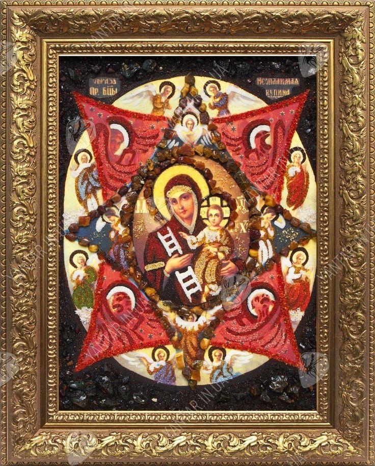 Неопалимая Купина Икона Божией Матери: значение, в чем она помогает икона из янтаря