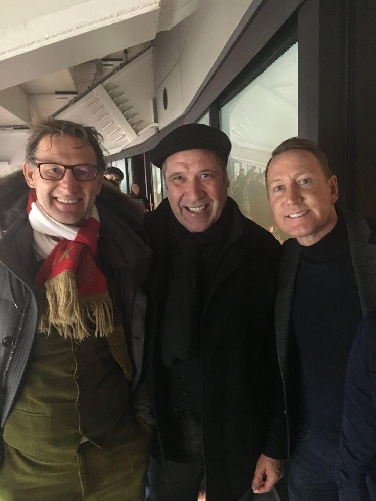 Tony Adams, David Seaman and Ray Parlour (February 2018)