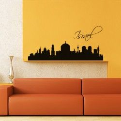 Israel City Wall Decal  Israel, a Middle Eastern country on the Mediterranean Sea, is regarded by Jews, Christians and Muslims as the biblical Holy Land. This wall art is of premium quality and available in different sizes & colors. The wall sticker is easily removable, repositionable and washed.  SMALL :-- 24 X 11 -- IN INCHES MEDIUM :-- 48 X 22 -- IN INCHES LARGE :-- 52 X 24 -- IN INCHES