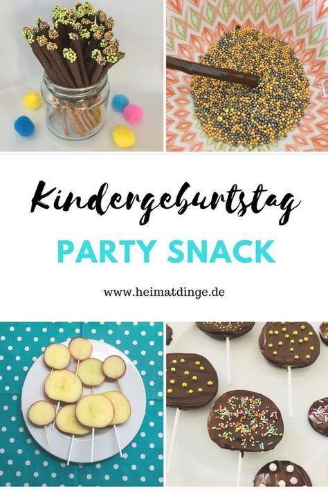 Fingerfood Kindergeburtstag – bunte, süße Snacks für hungrige Partygäste –