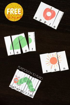 Free Very Hungry Caterpillar Puzzles. Fun follow up to the Very Hungry Caterpillar and great for building words.
