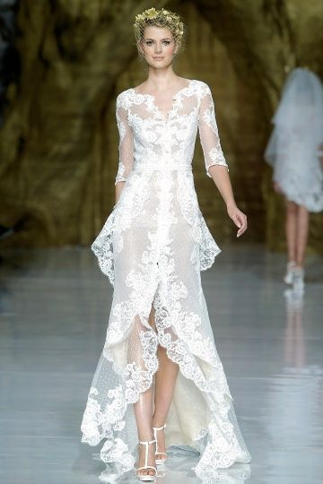 We're really feeling gowns with sleeves right now… We've seen enough poorly-tailored strapless wedding dresses to be ready for a change. How about you? It always breaks our hearts when we see a bride tugging up at the front of her strapless dress on the dance floor (usually after the champagne has set in). AT […]