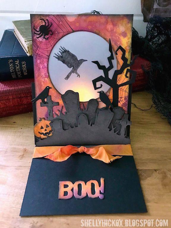 Stamptramp: Halloween Luminary Easel Card
