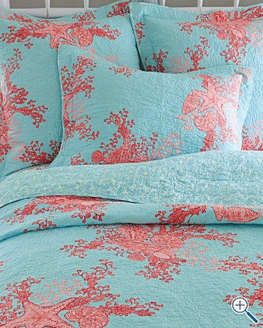 Lilly Pulitzer Laguna Quilt and Sham. This is the front runner for my new room