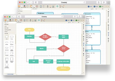 Online Diagram Software to draw Flowcharts, UML & more   Creately